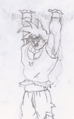 Dragonball Z - Goku Making a Spirit Bomb - picture by ... Awesome Dragon Drawings Easy