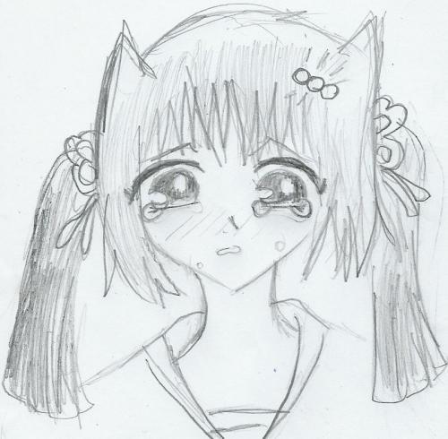 sad anime girl 2