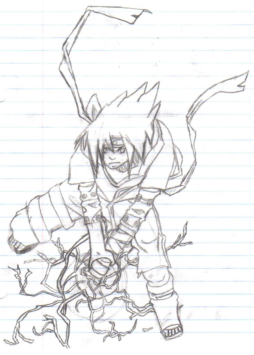 Sasuke Chidori - picture by cursemarksasuke - DrawingNow