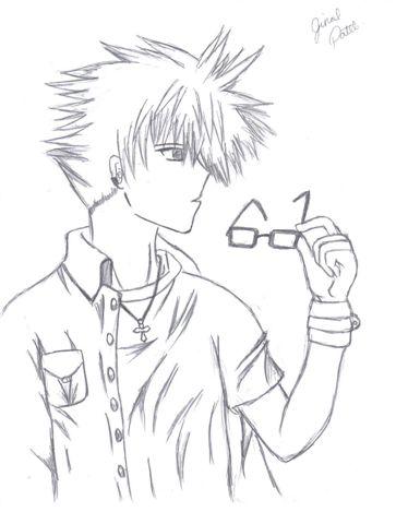 anime boy drawing. anime boy