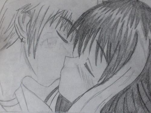 anime love kiss drawings. Anime Kiss