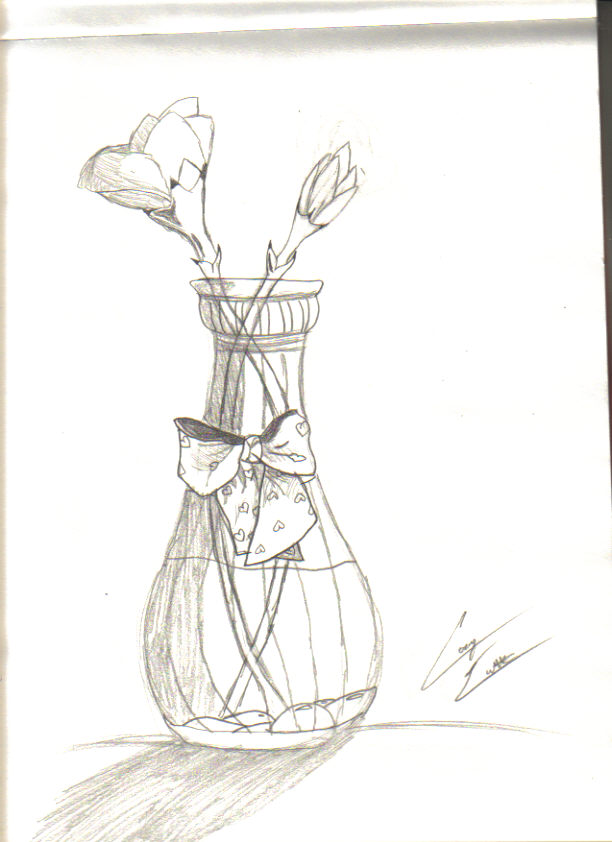 Flowers In Vase Picture By Chasing The Moon Drawingnow