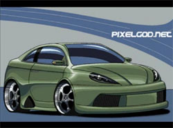 Bad car in paint