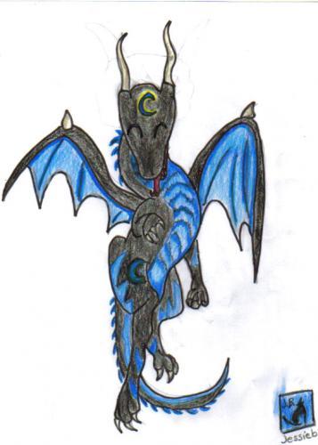 Chibi night dragon