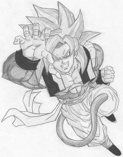 Gogeta Super Saiyan 4 by Ritwick