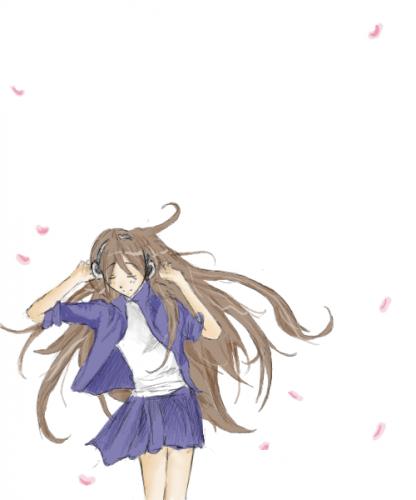 Dancing anime girl