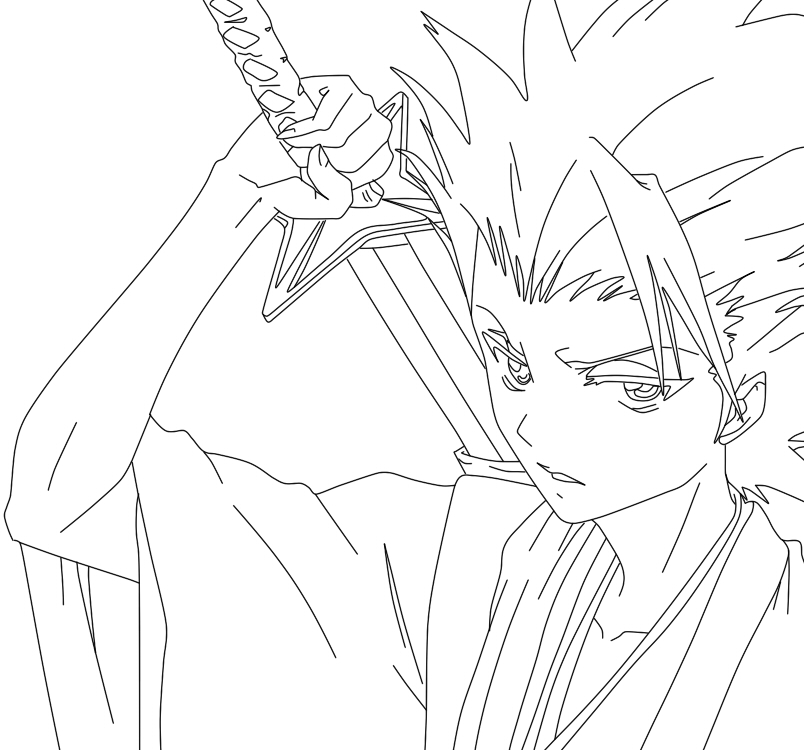 Hitsugaya Toshiro line art - picture by UnrealPie - DrawingNow