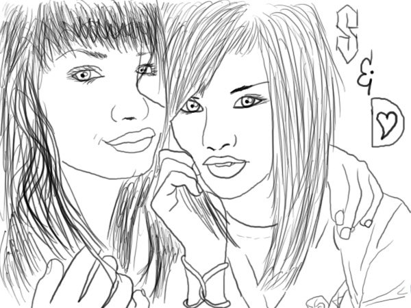 Selena Amp Demi Coloring Page Picture By Doglover12