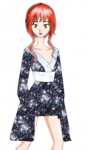 cute kimono girl