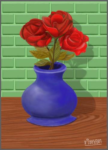 Roses (digital painting)