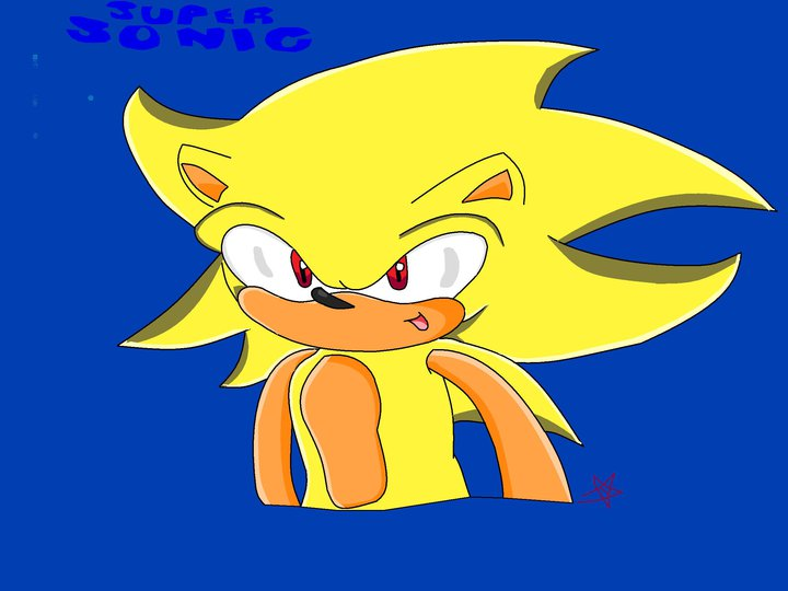Super Sonic - picture by sonicSAlover - DrawingNow
