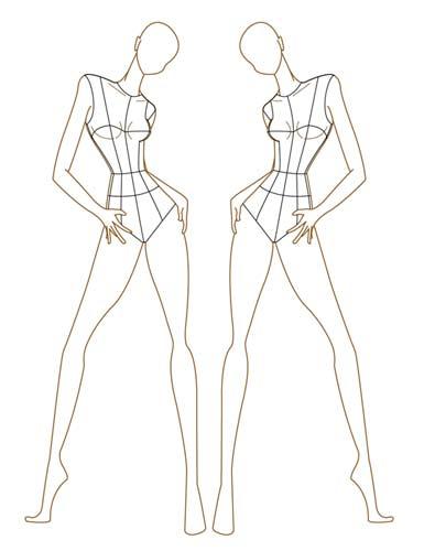 Plus size fashion model template