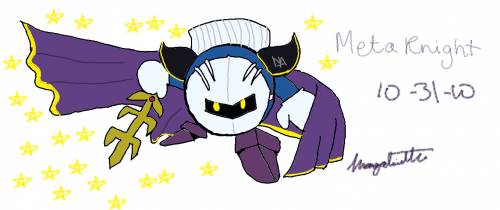 how to draw meta knight step by step
