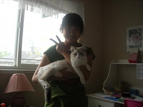 My cousin Annie with my kitty Rue