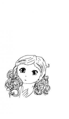 Girl With Curly Hair Drawing. Curly hair girl