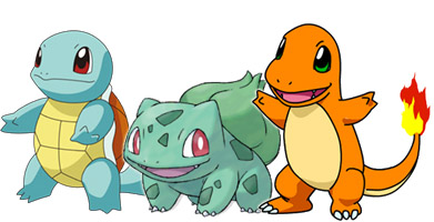 all 3 starter pokemon