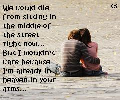 Girl and Boy in Middle of Road(found the pic on google and added words to it)....:D