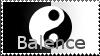 Balance stamp