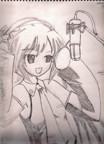 I was bored so when your bored draw miku xd picture by for Cartoons to draw when your bored