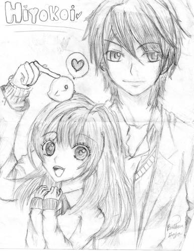 my_manga_and_anime_drawings_by_kagaminehime-d3dojtu
