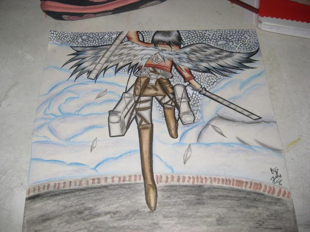 Shingeki no kyojin- Freedom (my drawing)