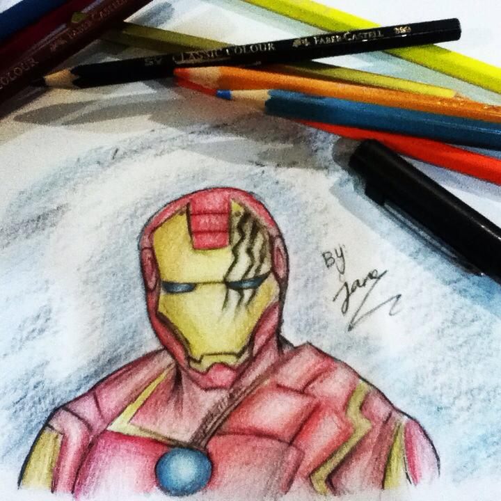 The avengers, Iron man (my drawing)