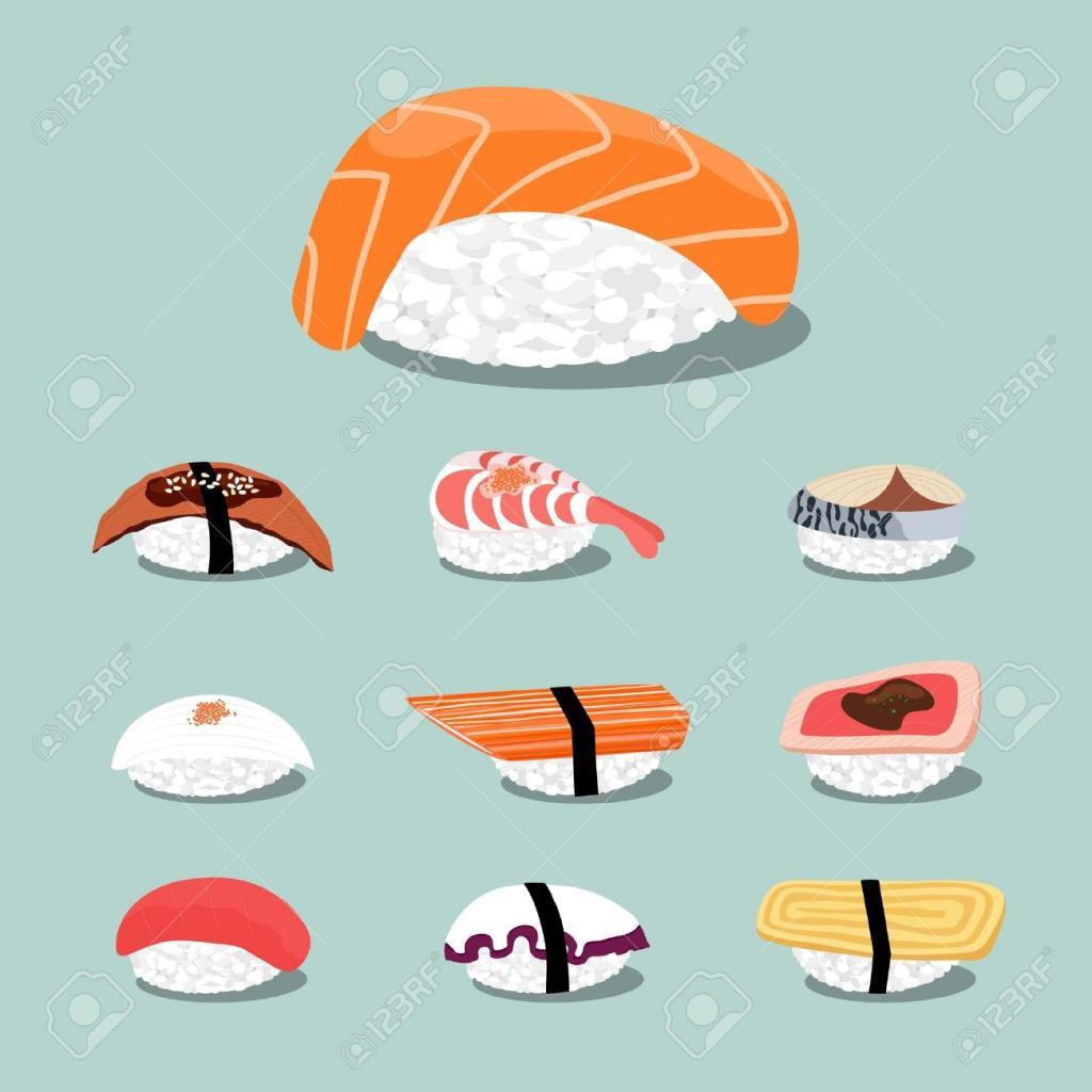18082366-Sushi-set-icon-Stock-Vector-sushi-food-japan