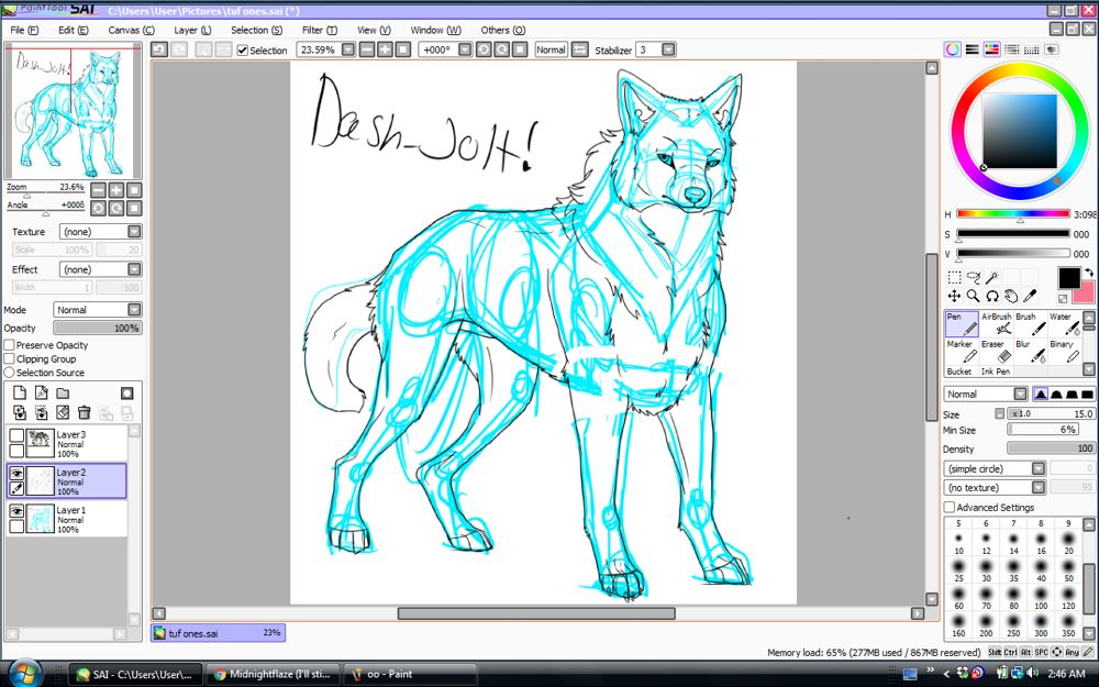 PaintTool Sai dog