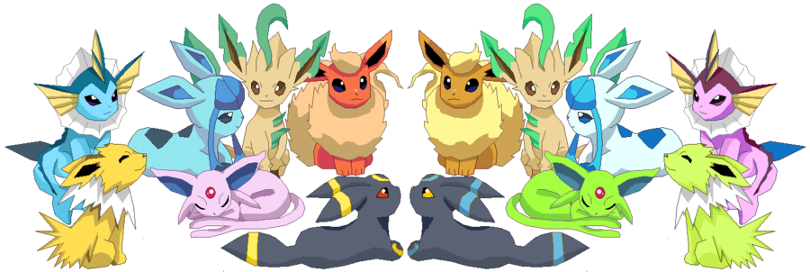 eeveelutions_normal_and_shiny_edit_by_slo_mo_tion-d5fp77m