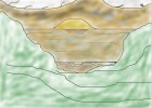 How to draw a ocean valley landscape