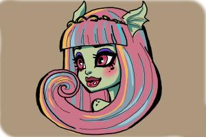 How to draw Rochelle Goyle from Monster High