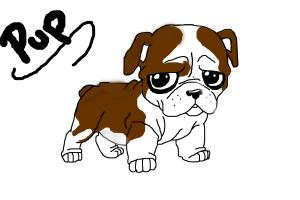 Cute english bulldog cartoon - photo#18