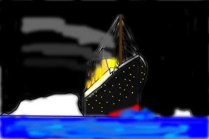 Titanic At Atlanic Ocean