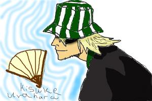 How to draw side view of Kisuke Urahara from BLEACH