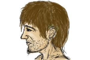 How to draw a man (side view)