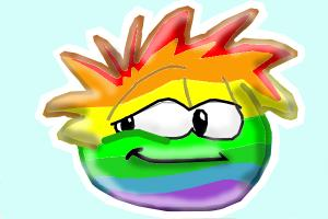 How to Draw Rainbow Puffle