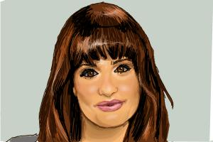 How to draw Lea Michele