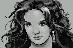 How to Draw Katie Holmes