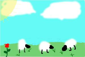 How to make landscape with sheep
