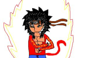 steven3c in super saiyan 4 with advance eye