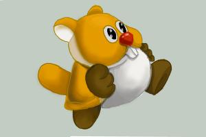 How to Draw Waddlewing from New Super Mario Bros. U
