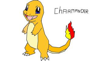 How to draw Charmander the lizard pokemon