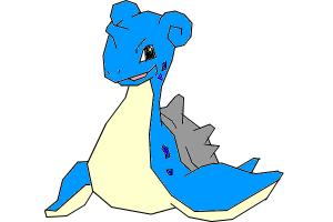 how to draw Lapras the transport pokemon