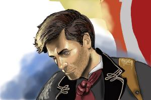 How to draw Booker DeWitt from BioShock