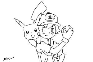 How to Draw: Ash and Pikachu