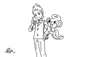 How to Draw: Cilan and Pansage