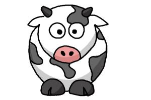 How To Draw Cartoon Cows