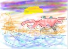 How to Draw a Crab On The Beach