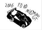 How to Draw a 2006 Ford Mustang Gt