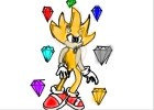 How to Draw Super Sonic With Chaos Emeralds